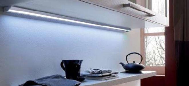 Освещение кухни светодиодными светильниками