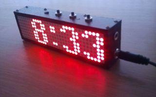 Самодельные часы на светодиодных матрицах