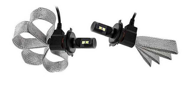 Автомобильная светодиодная лампа с гибким радиатором