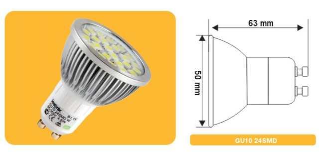 LED цоколь GU10