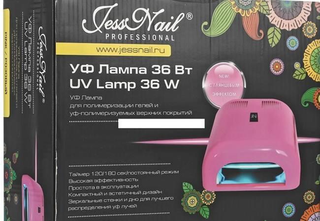 ультрафиолетовая лампа для ногтей jess nail