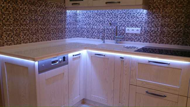 Лед подсветка кухонного гарнитура