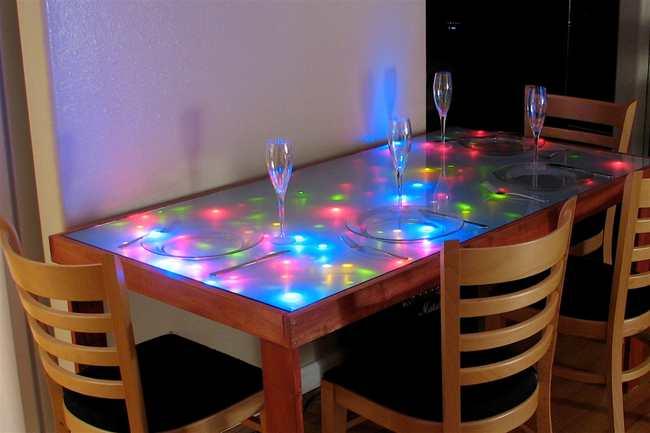 led подсветка стола
