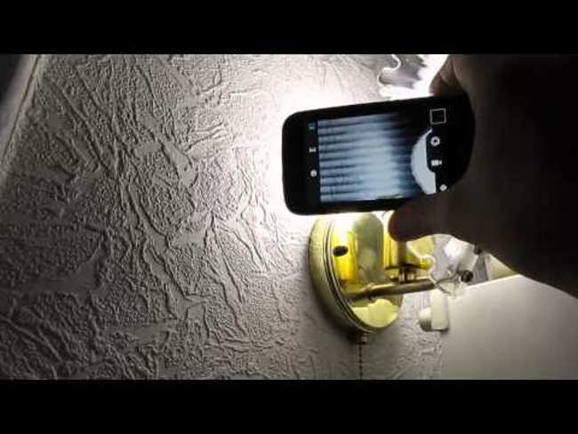 Мерцание лед лампы на камеру телефона