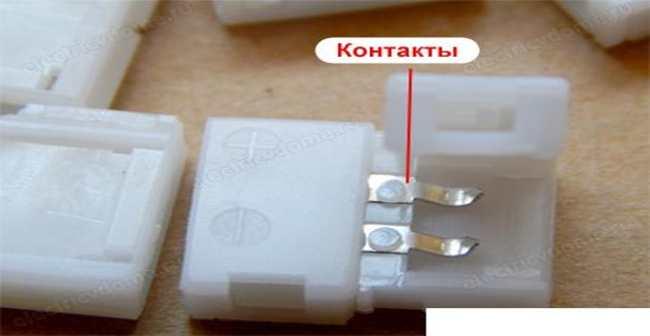 соединение лед ленты коннектором шаг первый