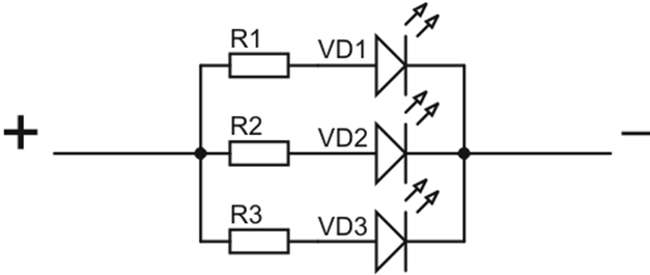 схема подключения led cree