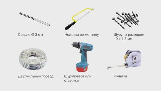 Инструменты для установки светодиодной ленты в профиль
