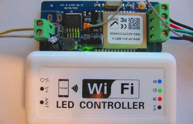 Wi-fi контроллер светодиодной ленты RGB