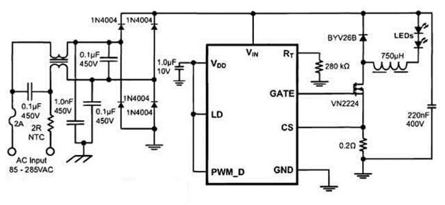 простой светодиодный драйвер тока