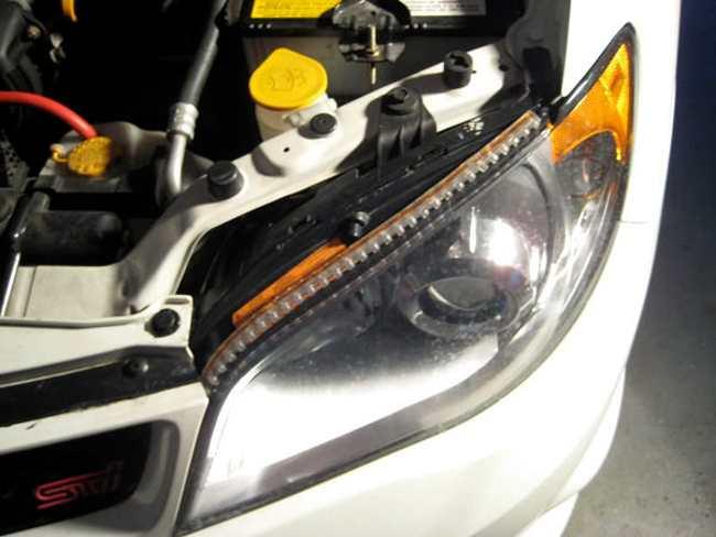 Светодиодная лента на фару авто