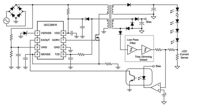 сетевой импульсный светодиодный драйвер