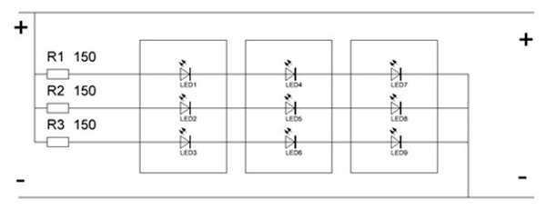 схема подключения led smd 5050