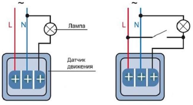 схема подключения датчика к светодиодной ленте