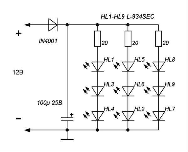 комбинированное подключение светодиодов