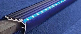 подсветка лестницы светодиодной лентой в профиле