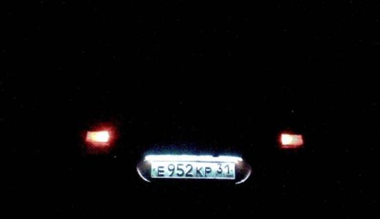 подсветка номера светодиодной лентой ночью