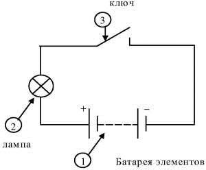 схема фонарика
