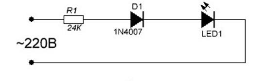 схема подключения светодиода через защитный диод