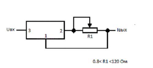 регулируемый стабилизатор тока для светодиодов
