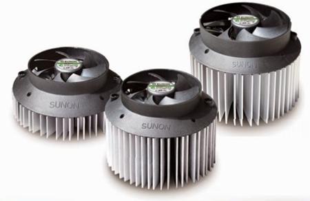 радиатор для охлаждения светодиода с вентилятором