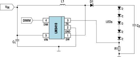 схема питания светодиода от бустера