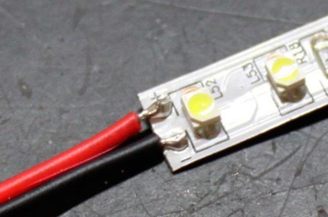 соединение светодиодных лент паяльником