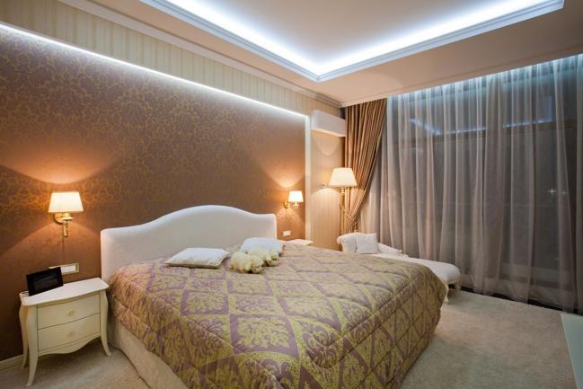подсветка светодиодной лентой в спальне