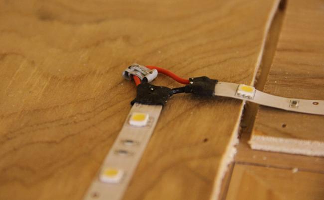 соединение светодиодной ленты пайкой