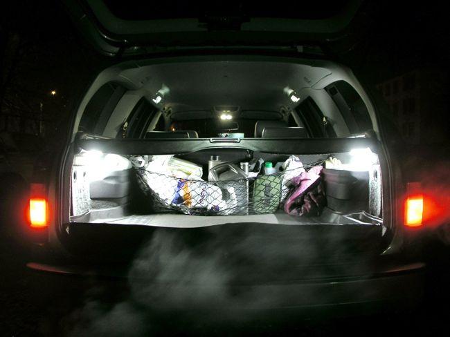 подсветка багажника автомобиля светодиодами cree ml-e