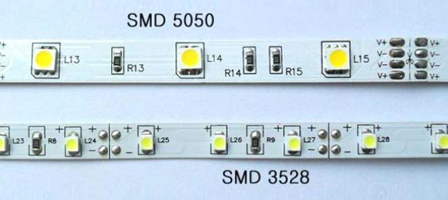 светодиодная лента smd 5050 и smd 3528