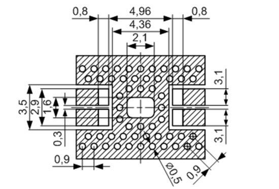 размер площадок SMD 5630