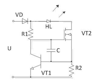 Схема индикатора напряжения на светодиодах от 5 до 600 Вольт