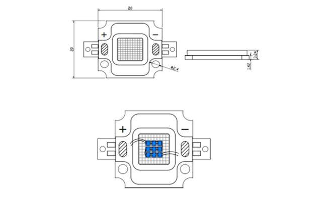 конструкция светодиода 10 ватт