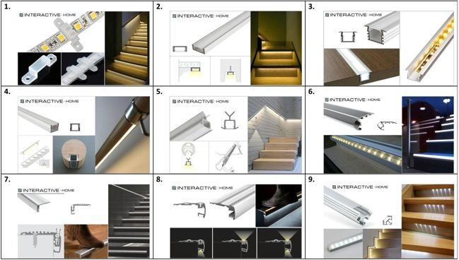 варианты крепления светодиодной ленты