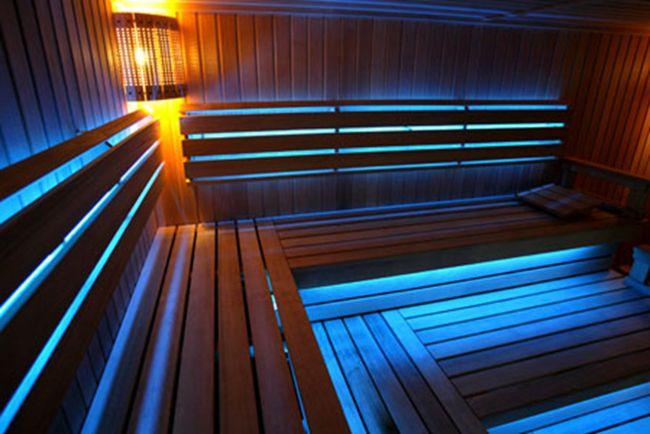 подсветка светодиодной лентой в сауне 1