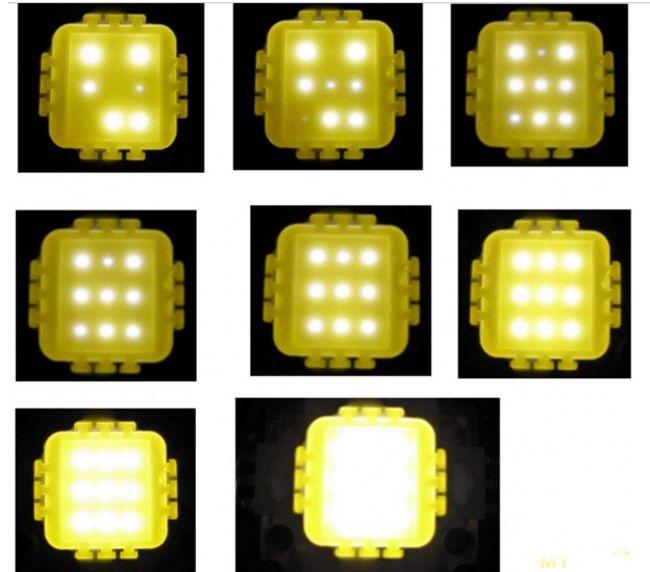пример плохих светодиодов на 10 ватт