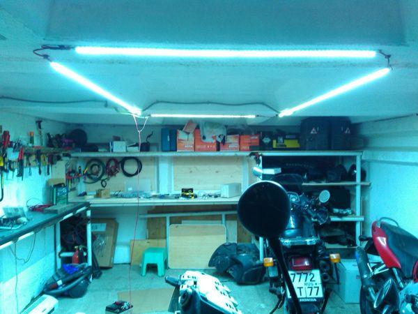 подсветка светодиодной лентой в гараже