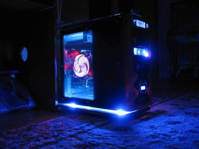 подсветка системного блока пк светодиодной лентой
