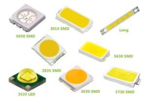 Различные SMD светодиоды